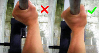 grip for bench